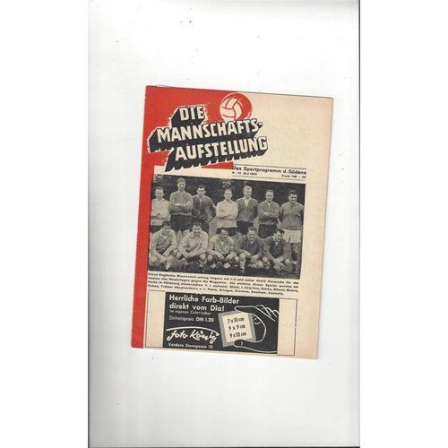 1965 West Germany v England Football Programme
