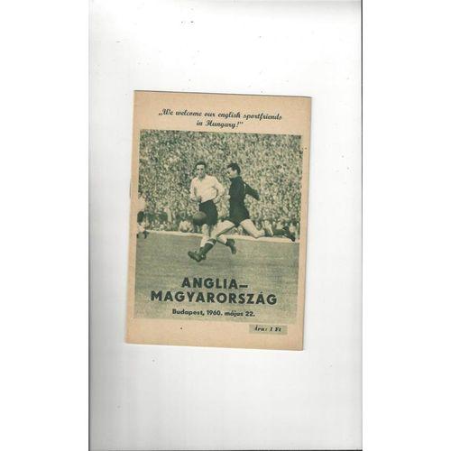 1960 Hungary v England Football Programme