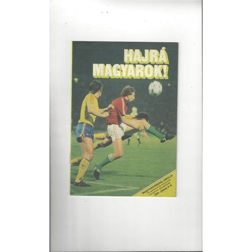 1981 Hungary v England Football Programme