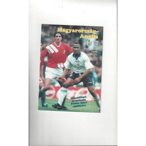 1999 Hungary v England Football Programme