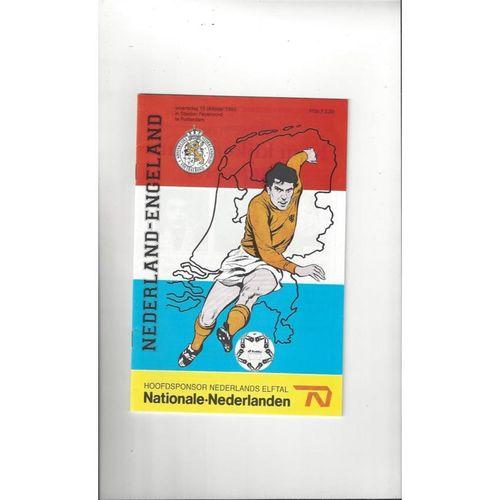 1993 Holland v England Football Programme