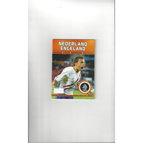 2006 Holland v England Football Programme