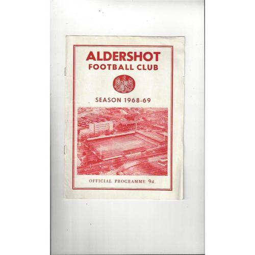 1968/69 Aldershot v York City Football Programme
