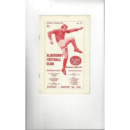 1969/70 Aldershot v Bradford Park Avenue Football Programme
