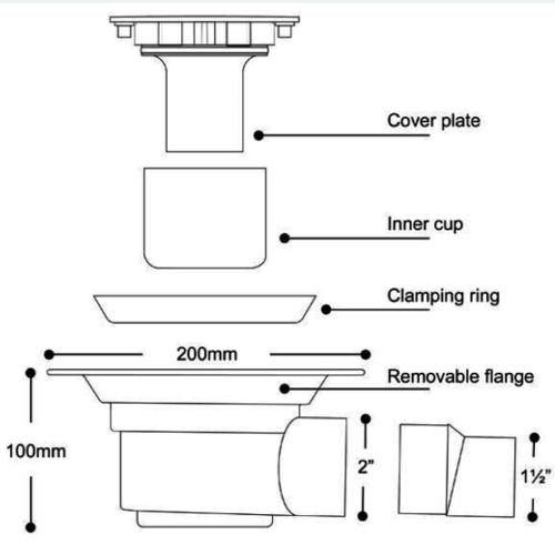 SolidDec Stainless steel vinyl Waste