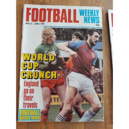 Football Weekly News 1981 May 27th - June 2nd  No 93