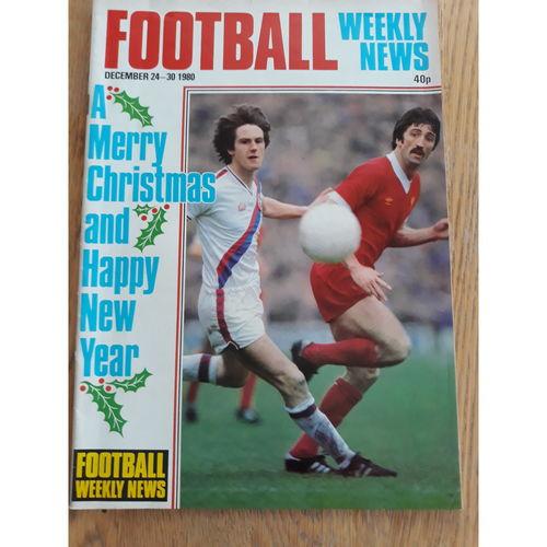 Football Weekly News 1980 Dec 24th - 30th No 71