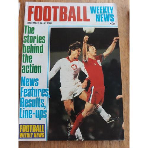 Football Weekly News 1980 Dec 17th - 23rd No 70