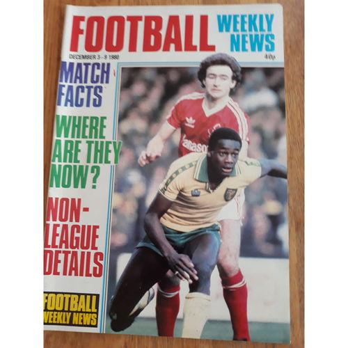 Football Weekly News 1980 Dec 3rd - 9th No 68