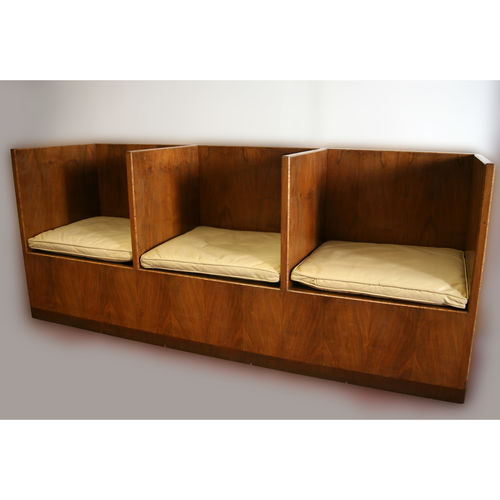 Mid Century Triple Seat in Walnut - £5,000