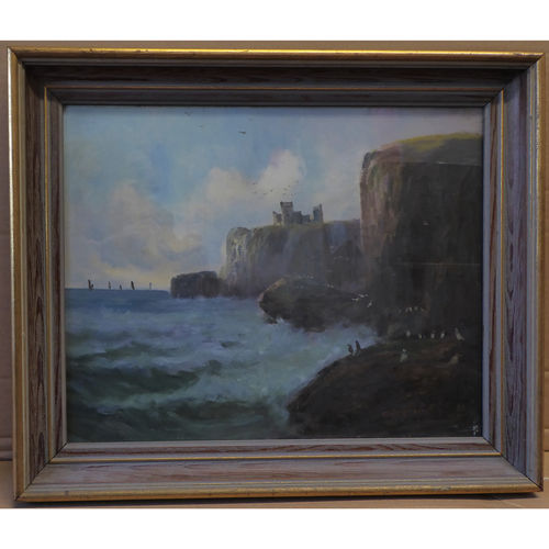 Slains Castle by Colin Hunter, 1841 - 1904 Oil Painting - £4,500