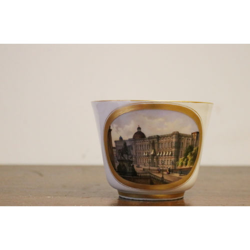 Berlin Porcelain Large Cup Depicting the Palace of Berlin 19th Century - £650