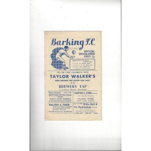 1952/53 Barking v Ilford FA Cup Football Programme