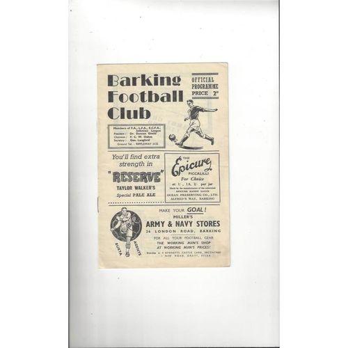 1955/56 Barking v Leyton FA Cup Football Programme