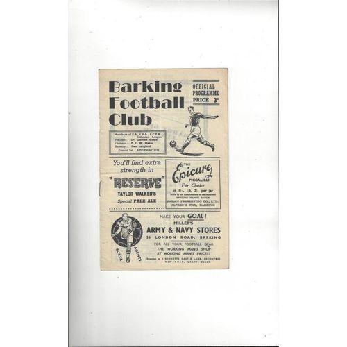 Dagenham Away Football Programmes