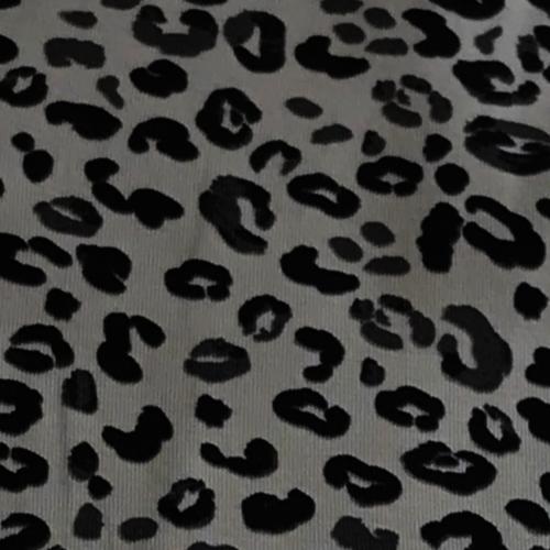 Animal Print Grey Jersey