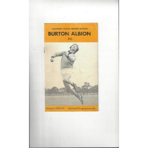 1974/75  Burton Albion v Nuneaton & Telford Double Football Programme