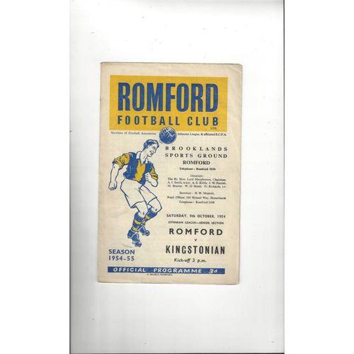 1954/55 Romford v Kingstonian Football Programme