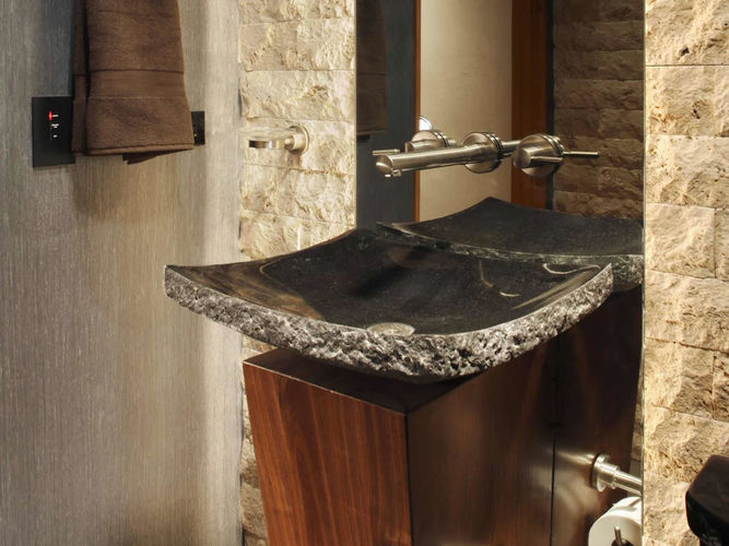 My Stone London, Split Face Tile Stone Sink Mosaic London, London Stone Marble Shop Interior Design