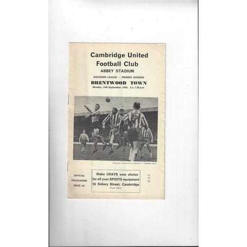 Cambridge United Home Football Programmes