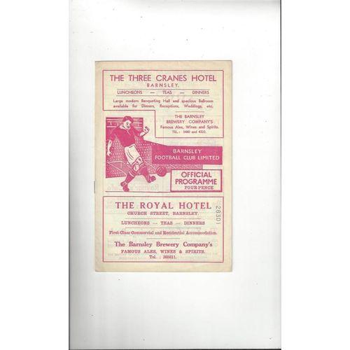 1959/60 Barnsley v Bradford City Football Programme