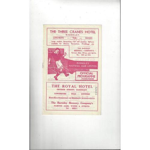 1959/60 Barnsley v Bradford City FA Cup Football Programme