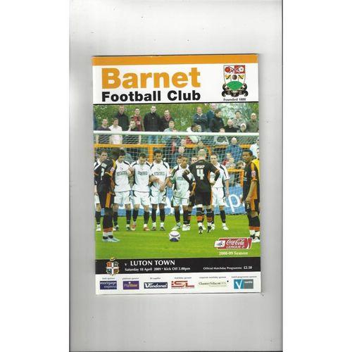 2008/09 Barnet v Luton Town Football Programme