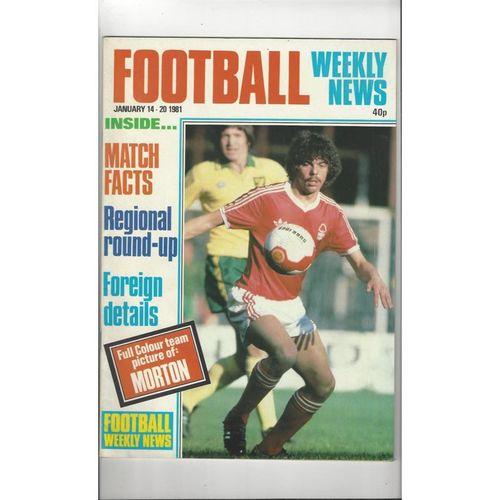 Football Weekly News 1981 Jan 14th - 20th No 74