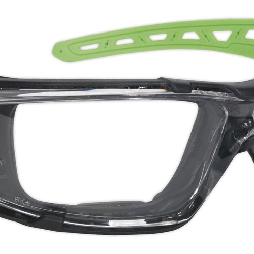 Safety Spectacles with EVA Foam Lining - Clear Lens - Sealey