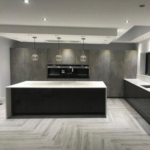 Silestone white quartz worktop