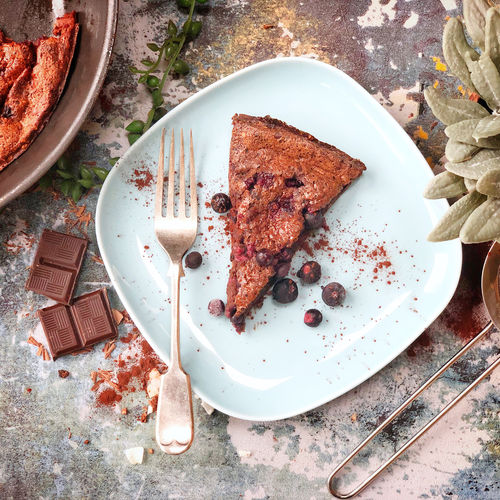 Dark Chocolate and Blackcurrant Clafoutis