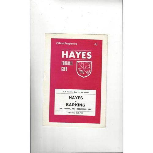 1969/70 Hayes v Barking Amateur Cup Football Programme