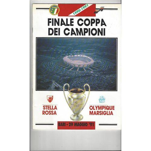 1991 Red Star v Marseille (Bari) European Cup Final Football Programme
