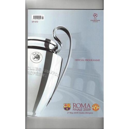 2009 Barcelona v Manchester United Champions League Final Football Programme