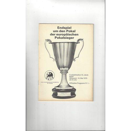 1975 Dynamo Kiev v Ferencvaros European Cup Winners Cup Final Programme