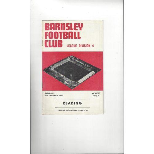 1972/73 Barnsley v Reading Football Programme