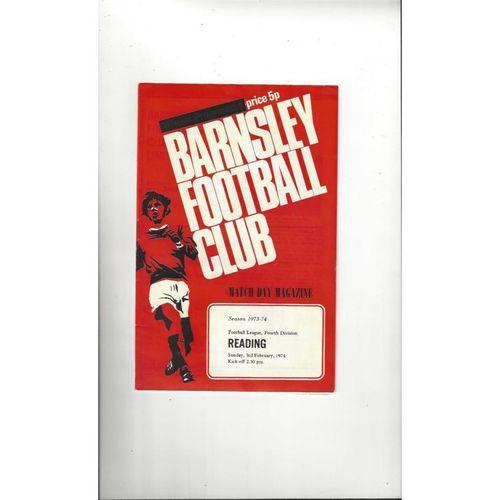 1973/74 Barnsley v Reading Football Programme