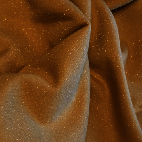 Ochre Glitter French Terry 93cm Remnant