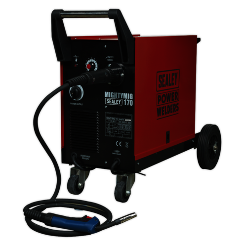Professional Gas/No-Gas MIG Welder 170Amp with Euro Torch - Sealey - MIGHTYMIG170