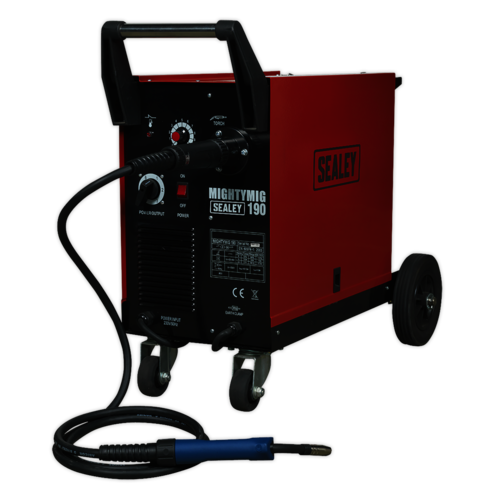 Professional Gas/No-Gas MIG Welder 190Amp with Euro Torch - Sealey - MIGHTYMIG190