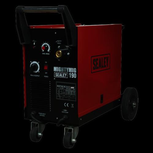 Professional Gas/No-Gas MIG Welder 190Amp with Euro Torch - Sealey - MIGHTYMIG190