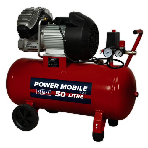 Compressor 50ltr V-Twin Direct Drive 3hp - Sealey - SAC05030