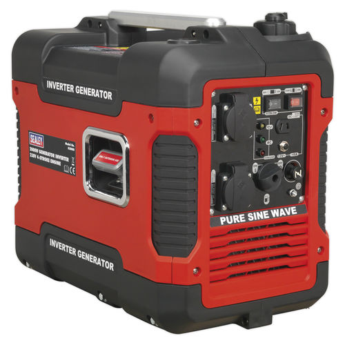 Inverter Generator 2000W 230V 4-Stroke Engine - Sealey - G2000I