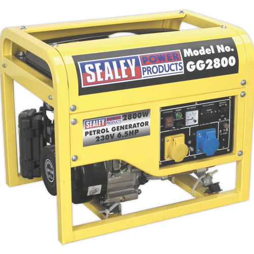 Generator 2800W 110/230V 6.5hp - Sealey - GG2800