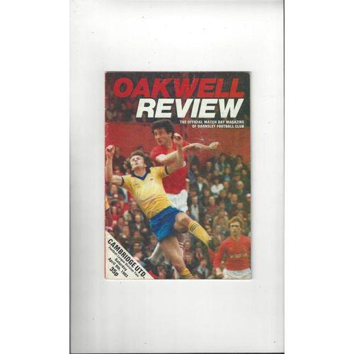 1982/83 Barnsley v Cambridge United Football Programme
