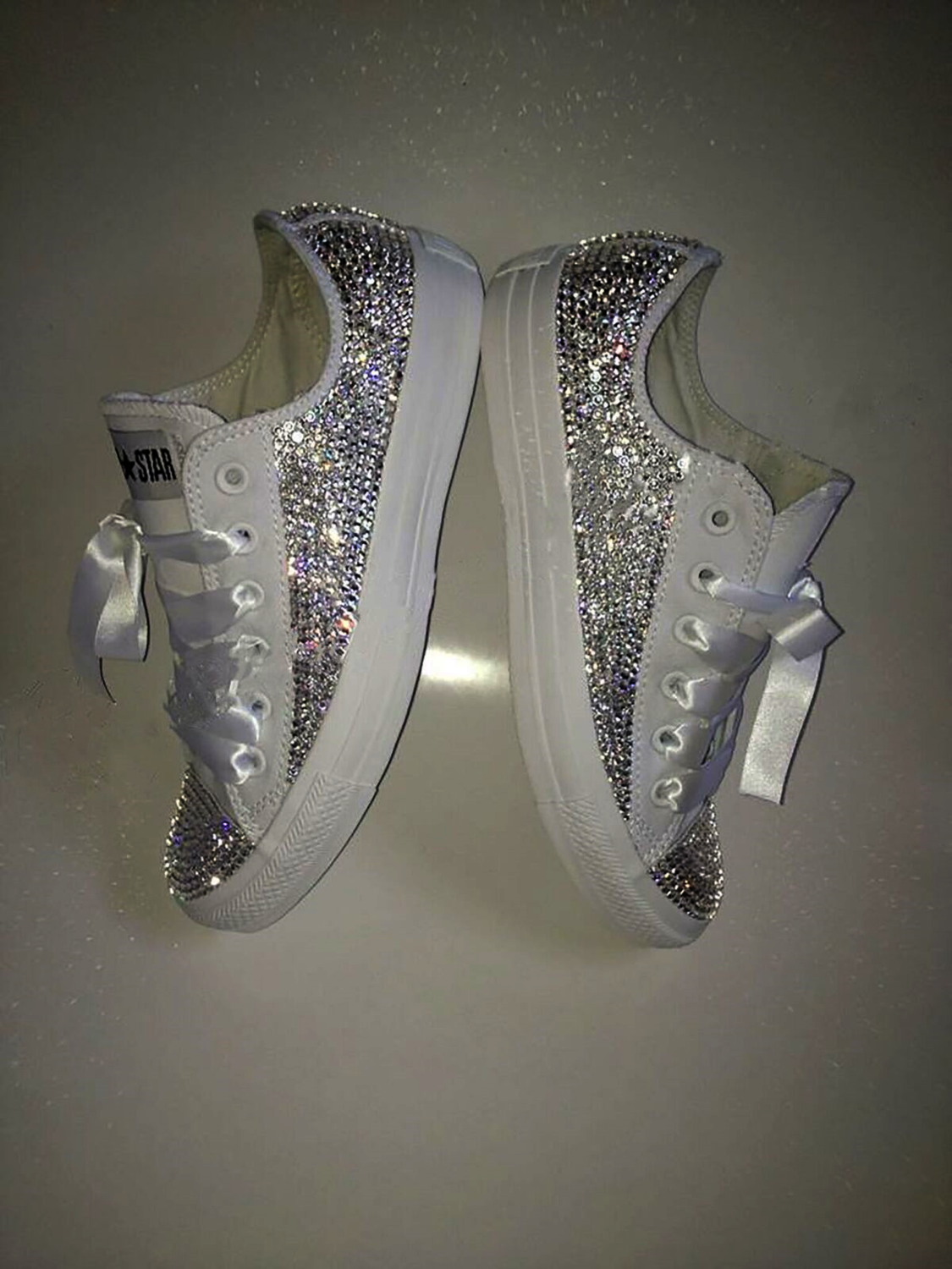 afa025b18bc42 Swarovski Crystal Sparkly Bling Converse Trainers (Adults ...