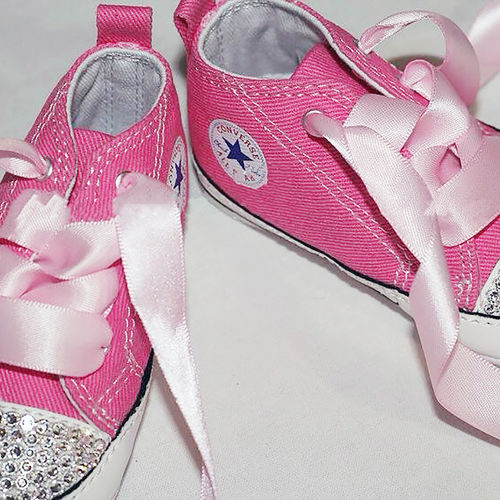 Swarovski Crystal Sparkly Bling Converse Trainers (Baby - Any Colour) 0083a00d48