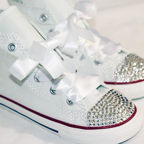 Swarovski Crystal Sparkly Bling Converse Trainers (Children s High Top -  Any Colour) 4384733995