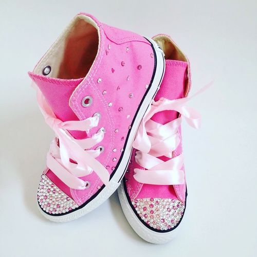 Swarovski Crystal Sparkly Customised Converse Trainers (Children's - Any Colour)