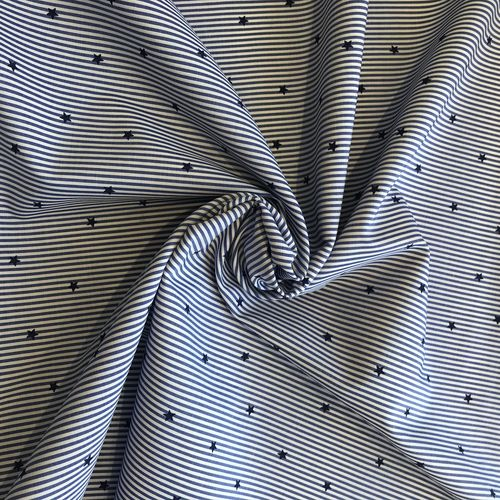 Lady McElroy Star Oxford Stripe 93cm Remnant
